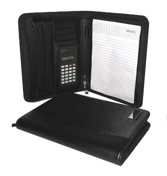A5 Folder with Zip, Calculator and Writing Pad