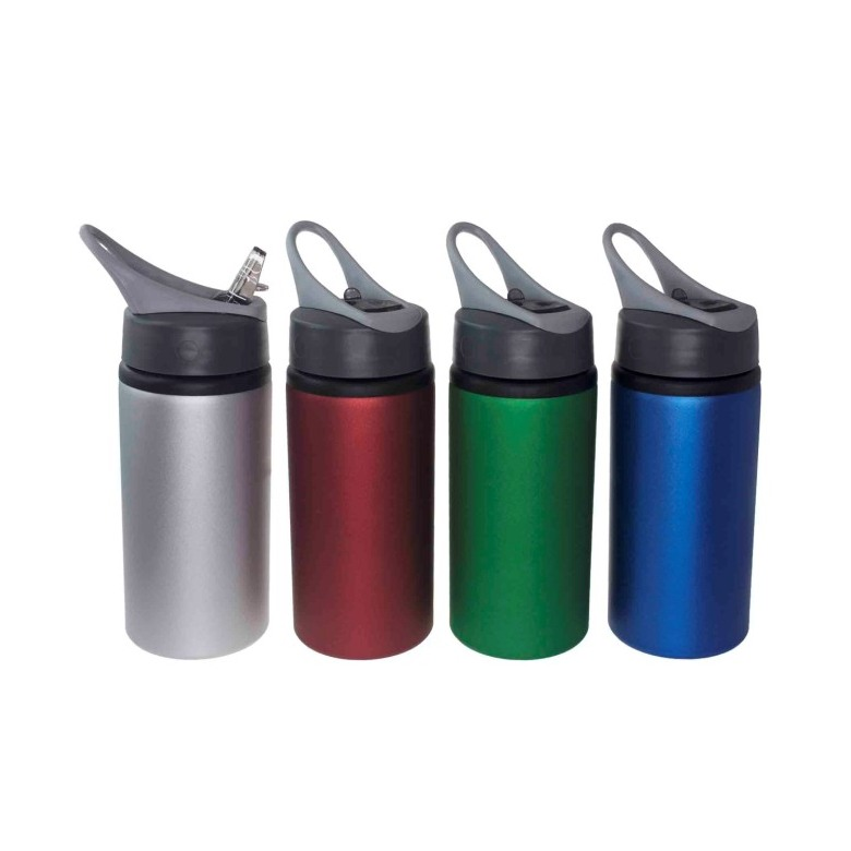 Aluminum Water Bottle with Straw [500ml]