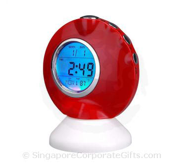 Desktop Music Alarm Clock with Thermometer and Calendar