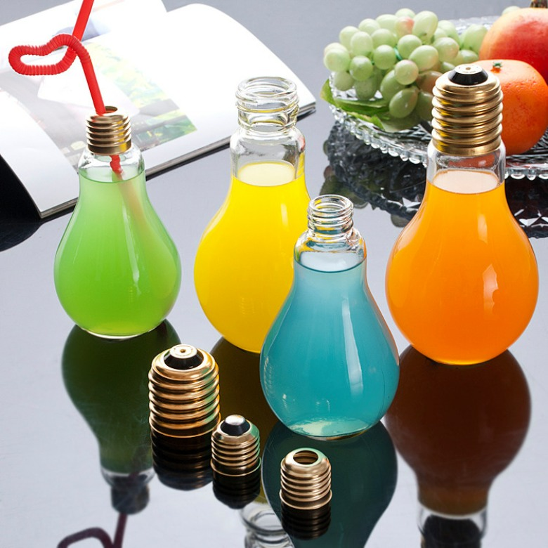 Glass Bulb Shaped mug (300ml)