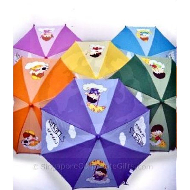 "Children Umbrella with coloured handle (16"")"