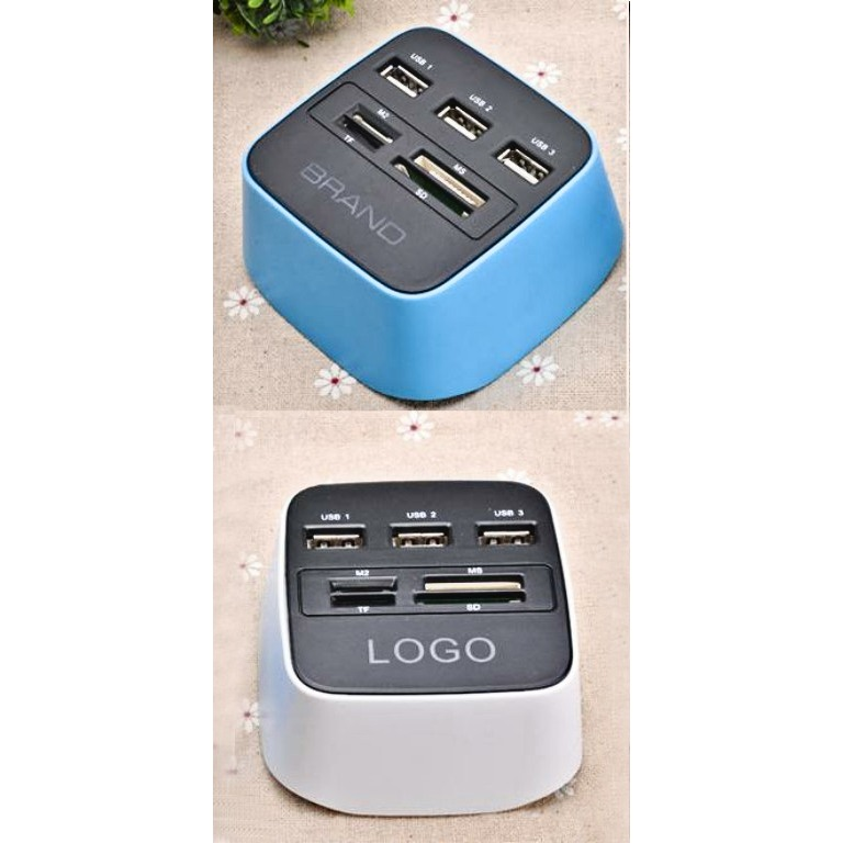 Combo USB Hub with Mulit-Card Reader 2