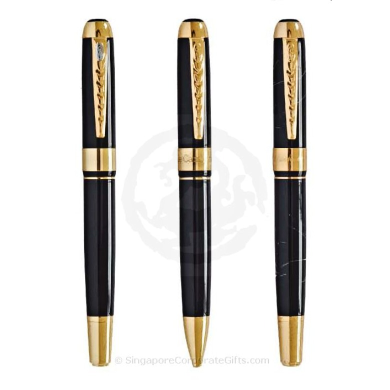 Exclusive Metal Pen with LIne Motif 250-1 (Ball,Roller,Fountain