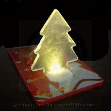 Christmas Tree Credit Card size pocket lamp