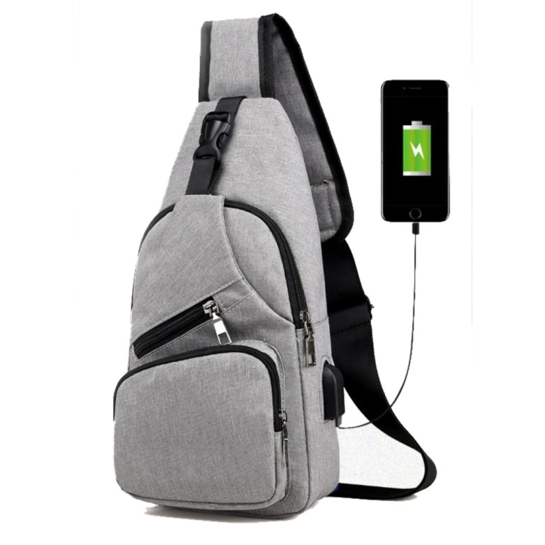 Anti-theft, Waterproof Crossbody Sling Bag with USB