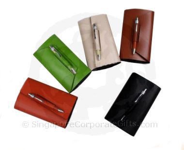 Designer Leather Pocket Note Book with Pen