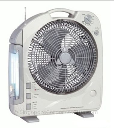 Emergency Lamp with Oscillating Fan (12 inch) and Radio