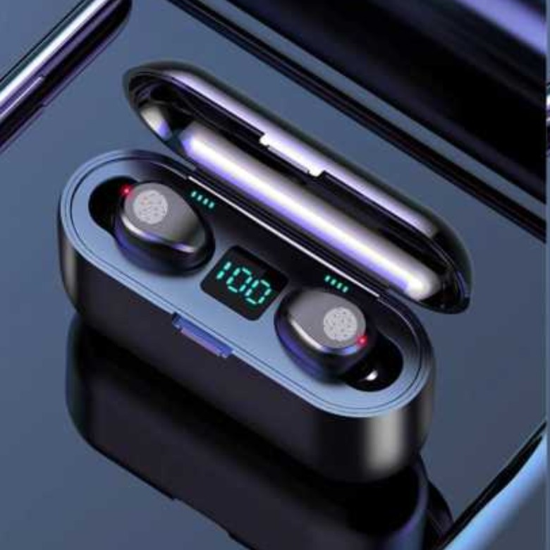 F9 TWS Earphone Bluetooth 5.0 HiFi Sound, Finger Touch Control