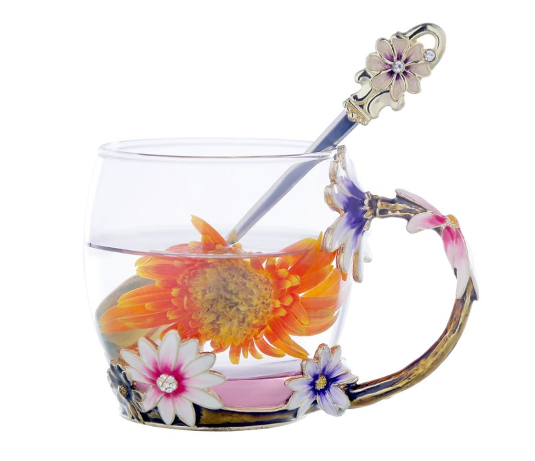 Exclusive Daisy Motif Enamel Cup  (320ml)