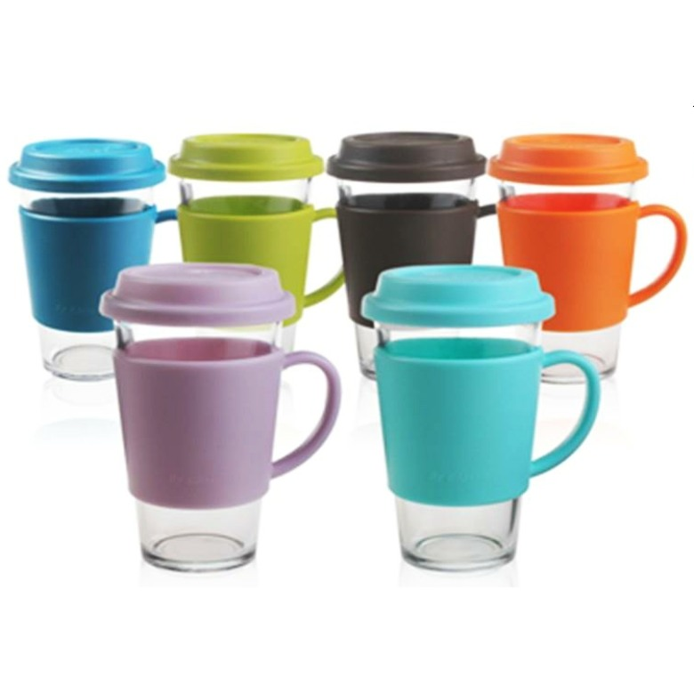 GlassLock Ottro Glass Tumbler with Handle (500ml)