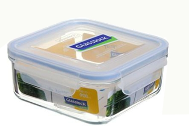 Glasslock Tempered Glass Container- Square (900ml)