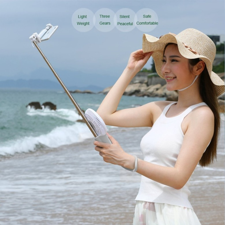 3 in 1 power bank with selfie and fan