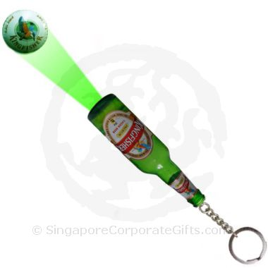 Beer Bottle Torch Light with Logo Projection