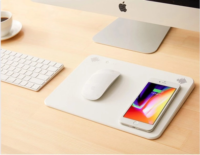 Mouse Pad with Wireless Charger and Stereo Speaker