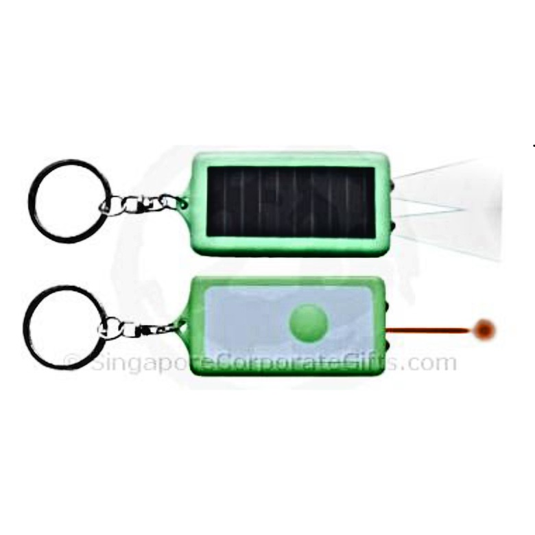 Solar Laser Pointer with LED Light and Keychain