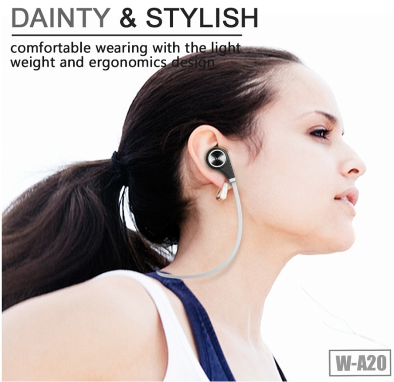 Bluetooth earphone with phone answering function W-A20