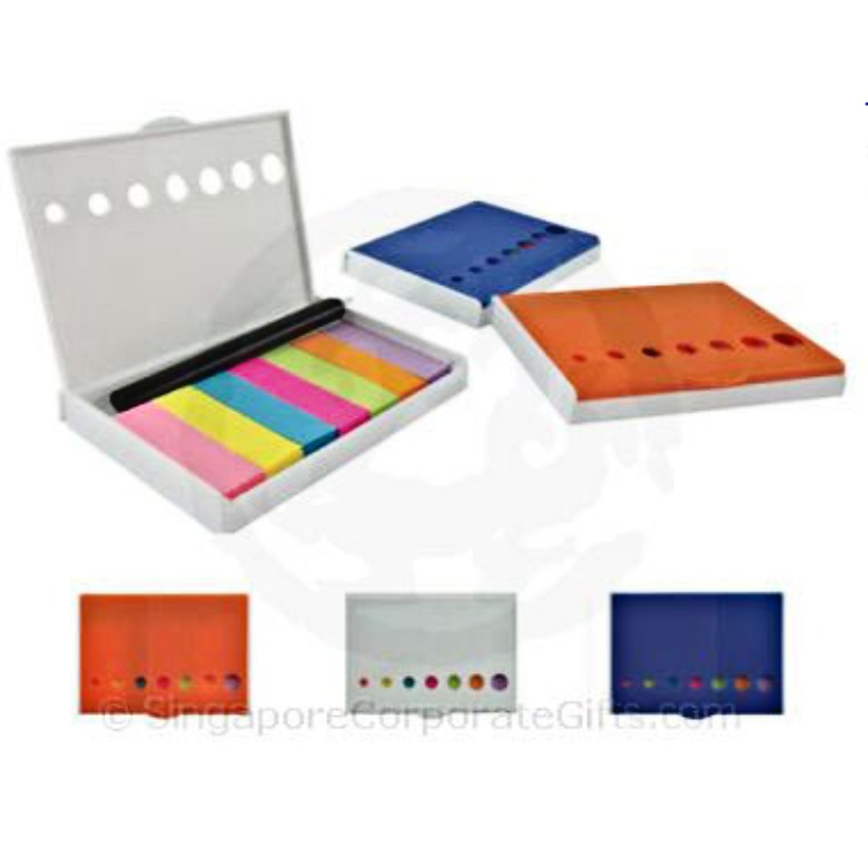 7 Colour Sticky Note with Pen