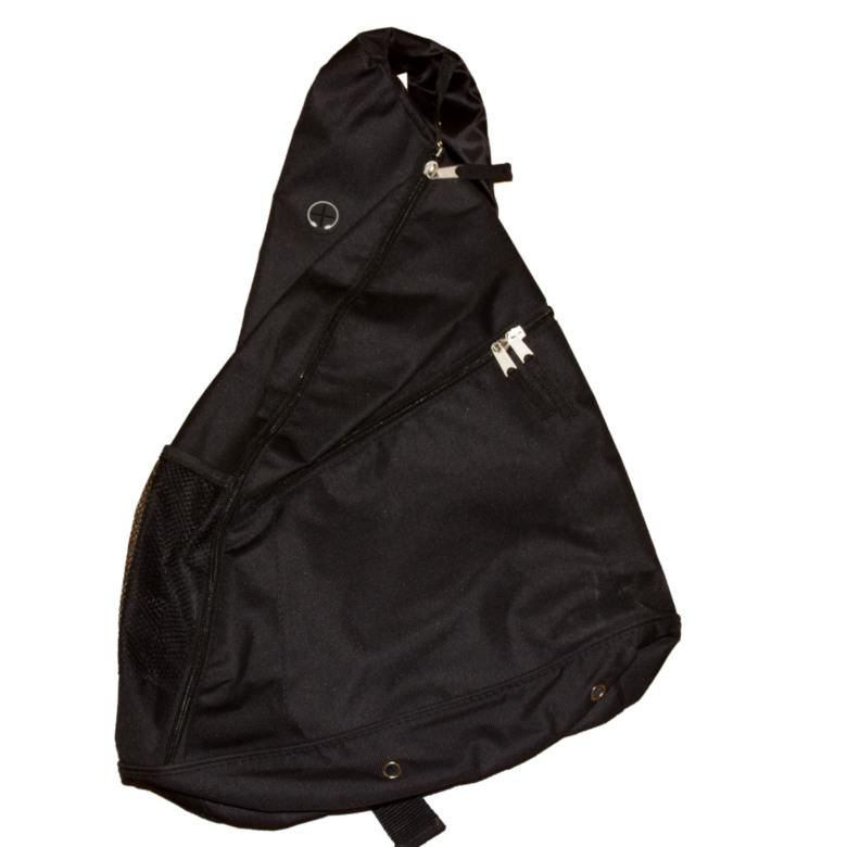 Triangle Sling Bag with 2 zip layer