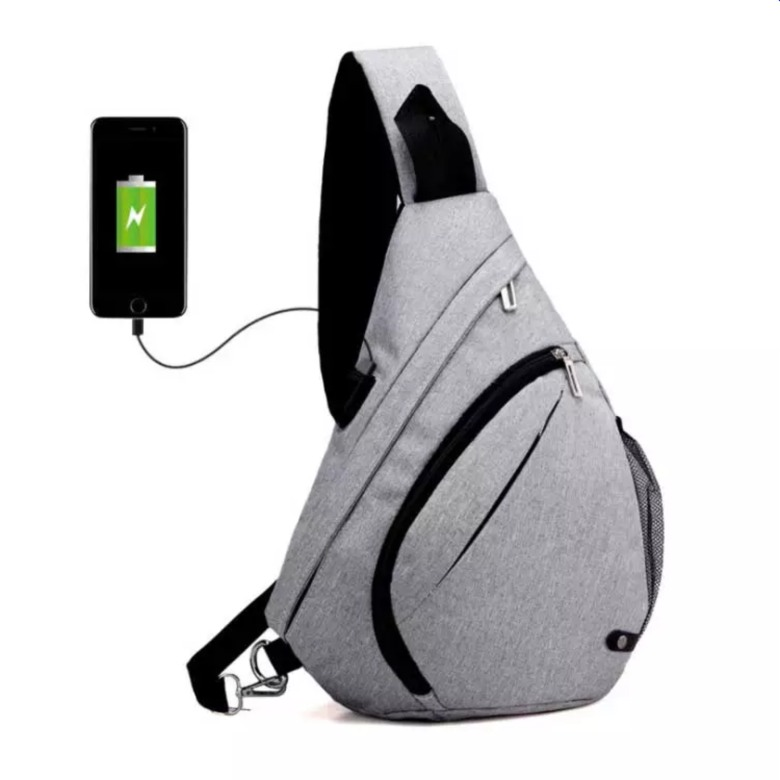 Sports Sling Bag with USB