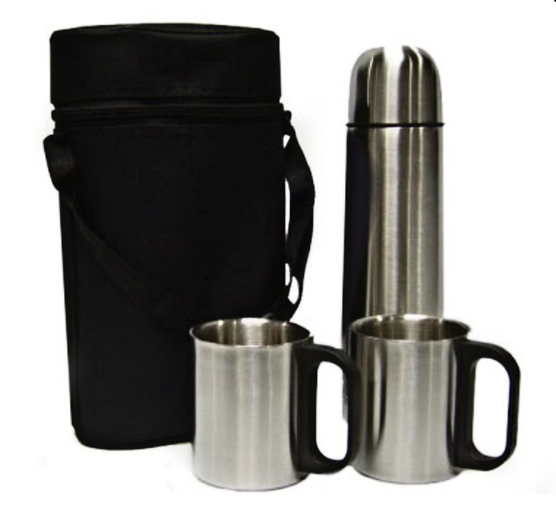 Vacuum Flask With Two Cups and Pouch