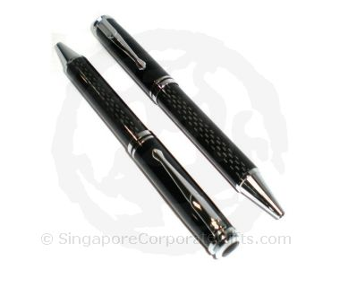 Black Metal Carbon ballpen