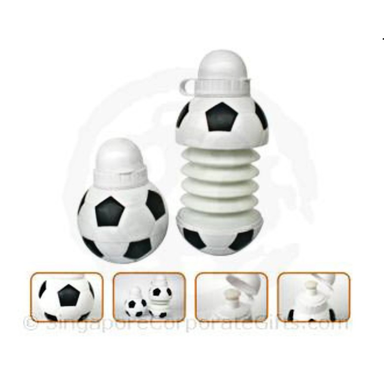 Soccer collapsible bottle